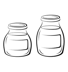 Glass jars black pictograms vector