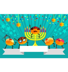 Hanukkah party vector image vector image