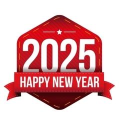 Happy New Year 2025 vector image vector image