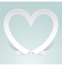 Heart made from red paper ribbon Origami style vector image vector image