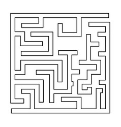 Labyrinth maze conundrum black color path icon vector