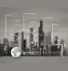 light world thin line map infographic template vector image vector image