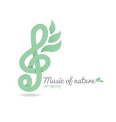 Logo music nature vector