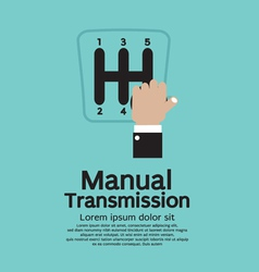 Manual Transmission vector image vector image