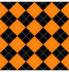 Orange black diamond background vector