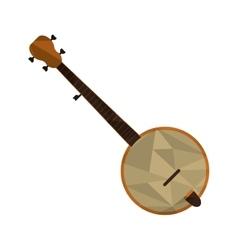 polygon texture banjo icon vector image