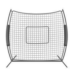 Protective fencingbaseball single icon in vector