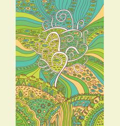 rainbow tree of life surreal fantasy psychedelic vector image vector image