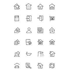 Real estate hand drawn doodle icons 1 vector