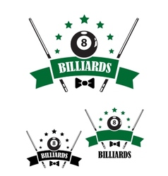 Retro style emblem of snooker vector image vector image