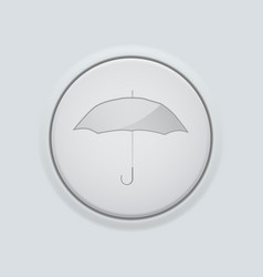 Round button with umbrella sign on gray interface vector