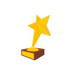 Star award cartoon icon vector