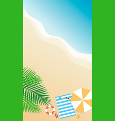 summer background season vacation weekend vector image