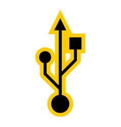 Usb port sign universal serial bus symbol vector
