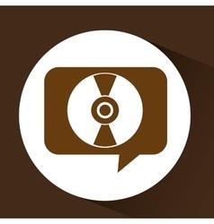 Vintage vynil disk symbol design vector
