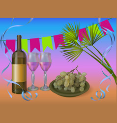 wine party concept - wine vector image