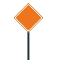 construction road sign icon vector image