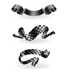 Checkered ribbons set vector