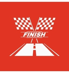 The race flag icon finish symbol flat vector