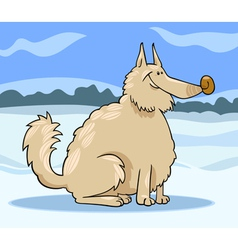 Eskimo dog cartoon vector