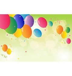 Beautiful colorful balloons vector