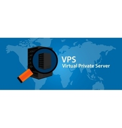 Vps virtual private server web hosting services vector