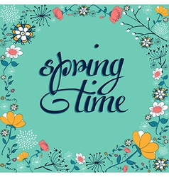 Spring vintage flower background vector