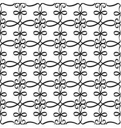 Swirled black line decorative pattern vector