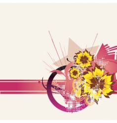 Floral graphic background vector