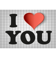 I love you sign with heart vector