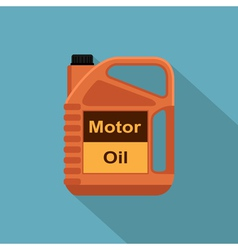 Flat oil canister vector