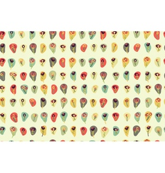 Floral pattern colorful vector