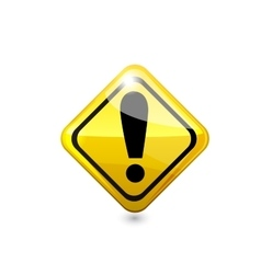 Attention glossy road sign vector