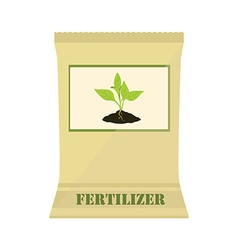 Paper bag with fertilizer vector