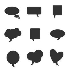 Speech bubble pointer silhouette vector