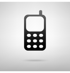 Phone black icon vector
