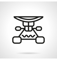 Longboard suspension black line design icon vector