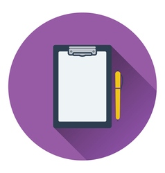 Icon of tablet and pen vector