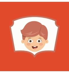 Boy character design vector