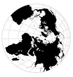 B&W globe vector image