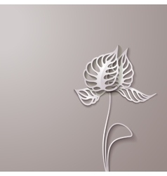 Abstract 3D Paper Flowers vector image