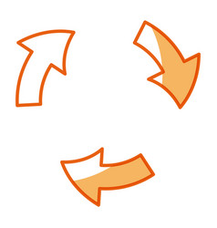 arrows rotation process symbol design vector image