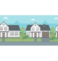 Background of suburban houses vector