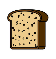 Bread slice icon vector