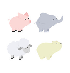 Cartoon of baby animals vector