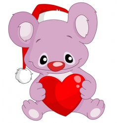 christmas koala vector image vector image