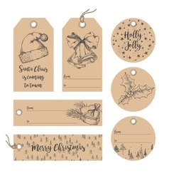 Christmas tags collection vector image