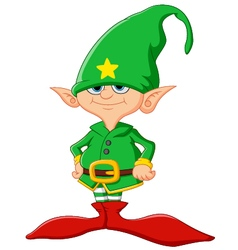 cute and happy Christmas elf vector image