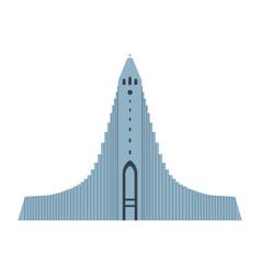 hallgrimskirkja architectural landmark vector image