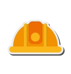 Industrial helmet icon vector